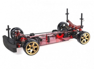 Blaze DFR 1/10 Scale Drift Chassis with Unpainted Body shell (Red)